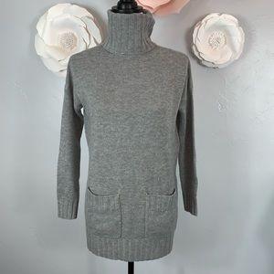 Joie Gray Agnetha  Wool Turtleneck Sweater J846